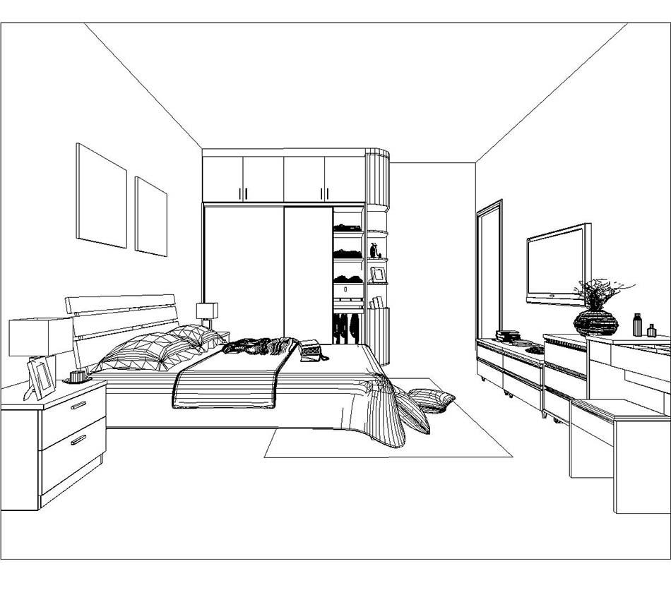 卧室设计图简笔画